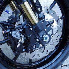 Radial caliper brackets for Indianapolis/ Öhlins front fork for H-D Dyna,  FXR, Softail, V-Rod